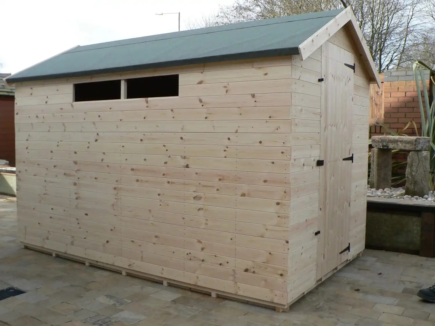 10' X 6' Apex Shed Security Windows