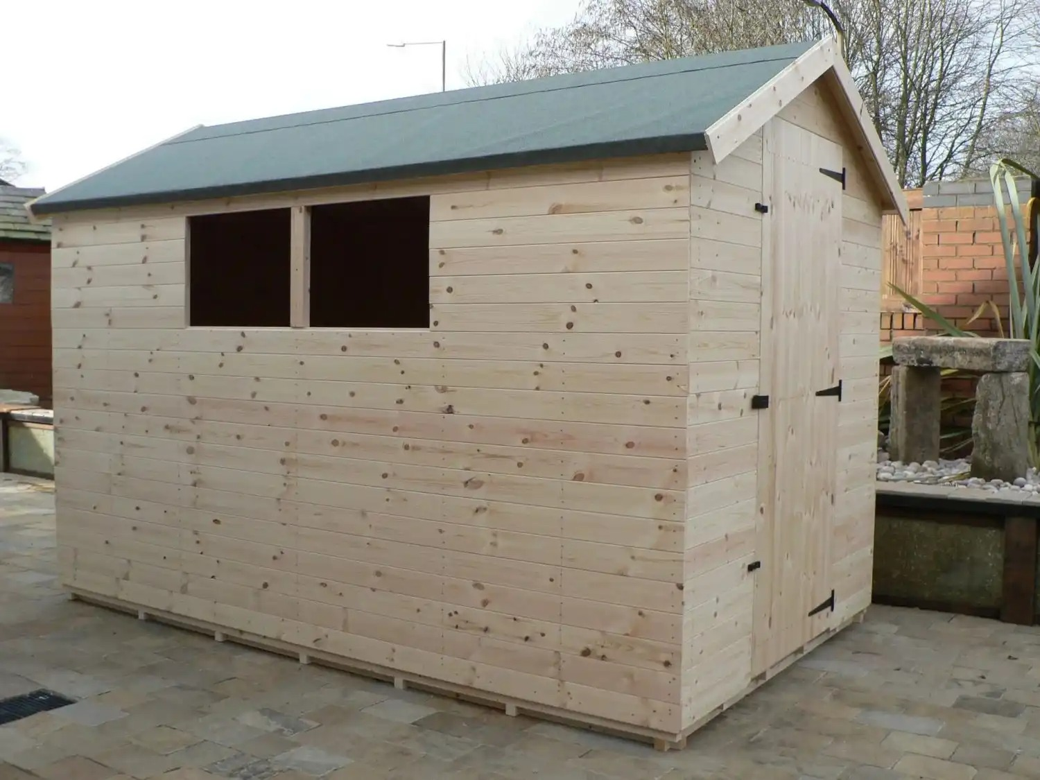 10' X 6' Apex Shed Full Size Windows