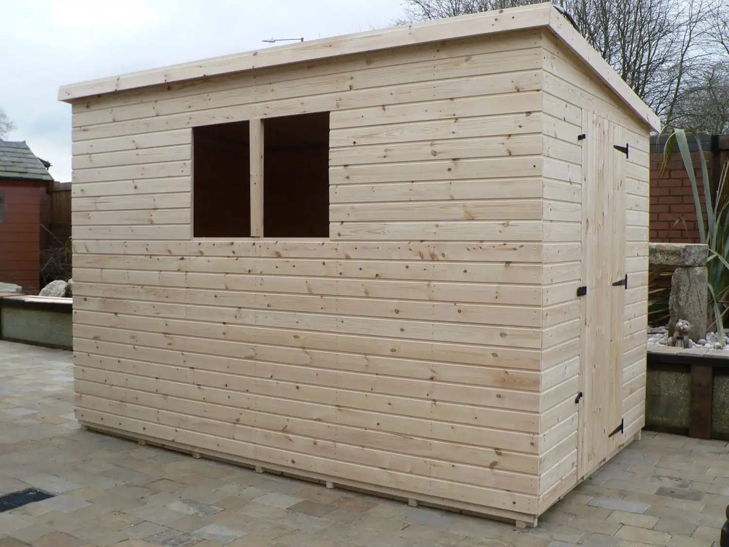 10' x 6' Pent Shed With full Size Windows