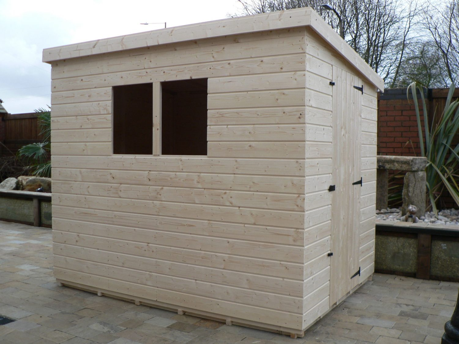 8' X 6' Pent Shed Full Size Windows